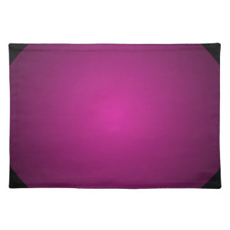 Pink Hot Pink and Black Plainly 3D Customizable Cloth Placemat