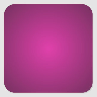 Pink Hot Pink and Black Plainly 3D Customizable Square Sticker