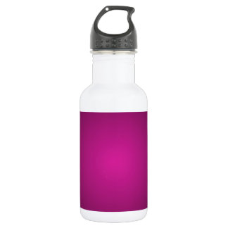 Pink Hot Pink and Black Plainly 3D Customizable Stainless Steel Water Bottle