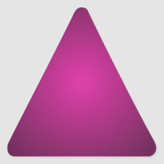 Pink Hot Pink and Black Plainly 3D Customizable Triangle Sticker