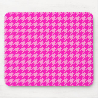 Pink Hounds-Tooth Mouse Pad