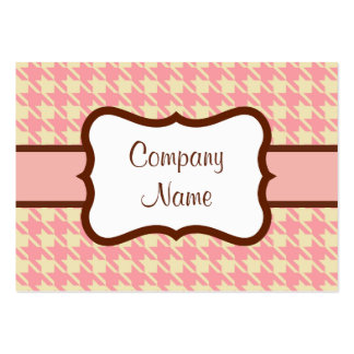Pink Houndstooth Business Card