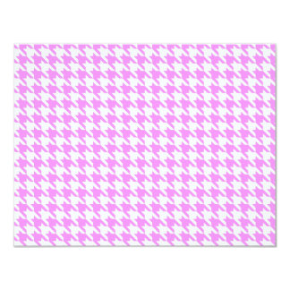 Pink Houndstooth Card