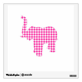 Pink Houndstooth Elephant Wall Sticker