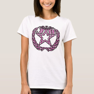 Pink houndstooth embossed logo T-Shirt