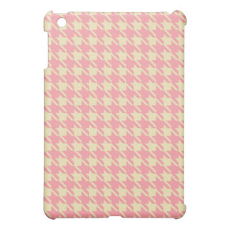 Pink Houndstooth iPad Case
