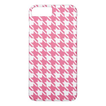 Pink Houndstooth iPhone 7 Plus Case