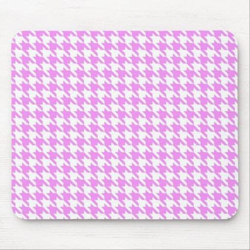 Pink Houndstooth Mousepad