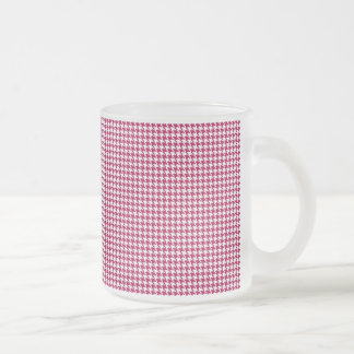 Pink houndstooth mug
