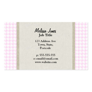 Pink Houndstooth pattern Business Card