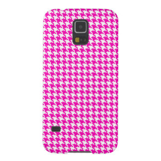 Pink Houndstooth Pattern Galaxy S5 Case