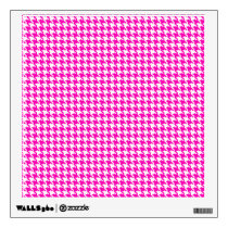 Pink Houndstooth Pattern Wall Sticker