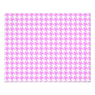 Pink Houndstooth Photo Print