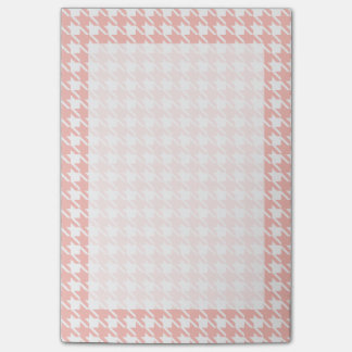 Pink Houndstooth Post It Notes