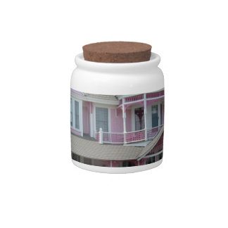 Pink House in Newport Candy Jar