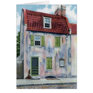 Pink House of Charleston South Carolina Greeting Cards