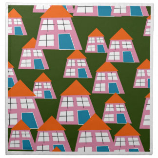 Pink Houses Cloth Napkin