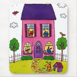 Pink Houses Mouse Pad