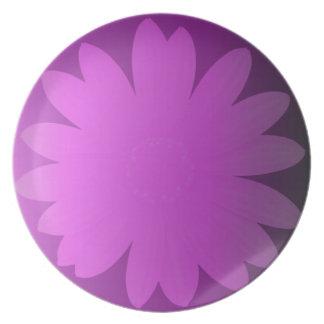 Pink Hues Daisy Flower Melamine Plate
