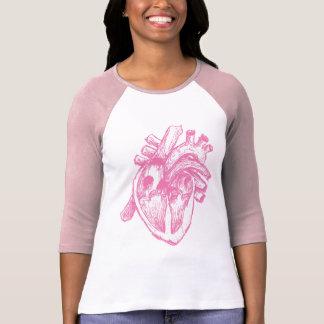 Pink Human Heart T Shirt