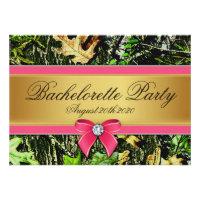 Pink Hunting Camo Bachelorette Party Invitations (<em>$1.90</em>)