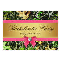 Pink Hunting Camo Bachelorette Party Invitations (<em>$2.27</em>)