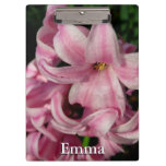 Pink Hyacinth Beautiful Spring Flower Clipboard