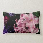 Pink Hyacinth Beautiful Spring Flower Lumbar Pillow