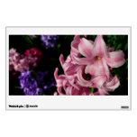 Pink Hyacinth Beautiful Spring Flower Wall Decal