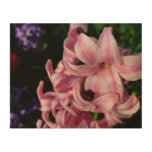 Pink Hyacinth Beautiful Spring Flower Wood Wall Decor