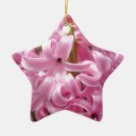 Pink Hyacinth Ceramic Ornament