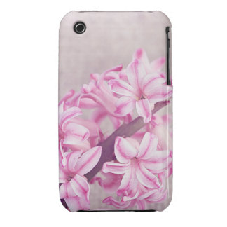 Pink Hyacinth on White Knit Case-Mate iPhone 3 Cases