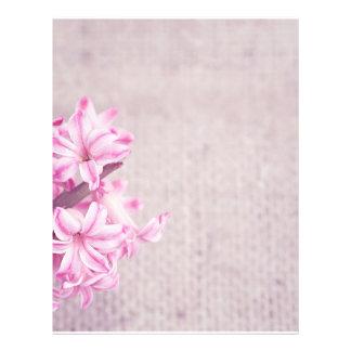 Pink Hyacinth on White Knit Flyer