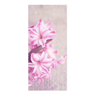 Pink Hyacinth on White Knit Rack Card