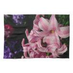 Pink Hyacinth Pretty Spring Flower Towel