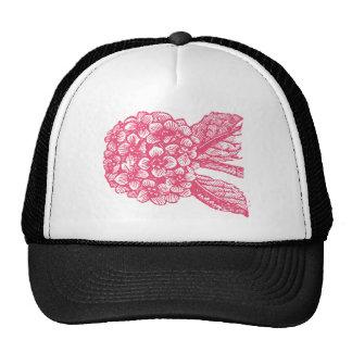 Pink Hydragnea Flower Wedding Set Trucker Hat