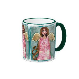 Pink Hydrangea Angel - floral mug of beauty