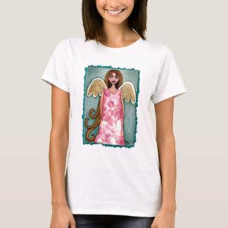 Pink Hydrangea Angel - ladies t-shirt