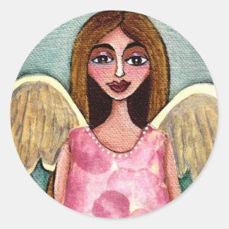 Pink Hydrangea Angel - stickers