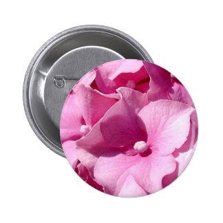 Pink Hydrangea badge/button Pinback Button