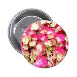 Pink Hydrangea Bouquet Pinback Buttons