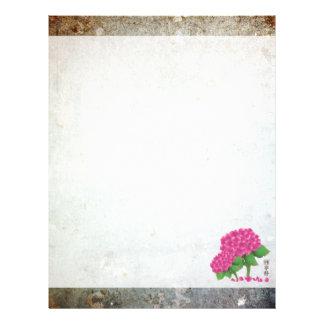 """Pink hydrangea bouquet """"Serenity"""" 8.5"""" X 11"""" Flyer"""