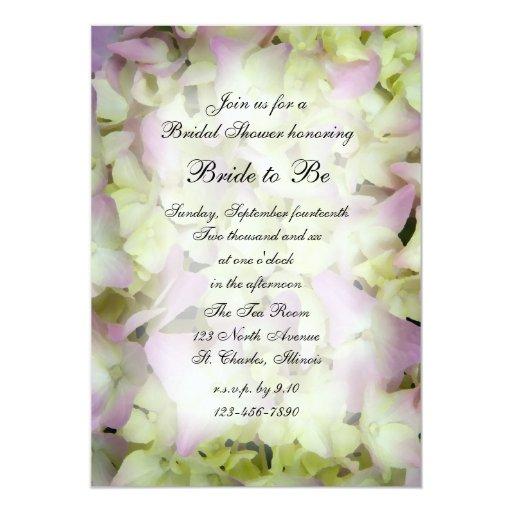 Pink Hydrangea Bridal Shower Invitation