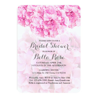 Pink Hydrangea Bridal Shower invitation hydrangea1