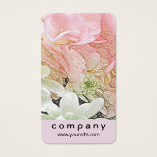Pink Hydrangea Floral Business Card
