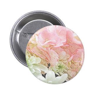 Pink Hydrangea Floral Button