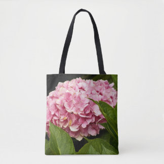Pink Hydrangea Floral Tote Bag