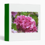 Pink Hydrangea Flower Binder