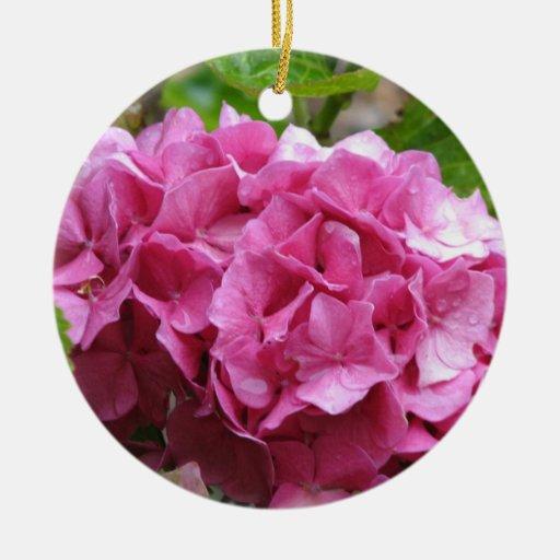 Pink Hydrangea Flower Ornament