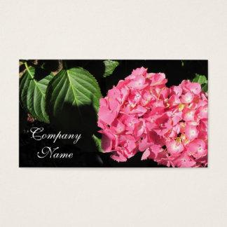 Pink Hydrangea flowers Business Card